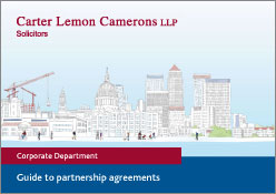 Guide to partnership agreements