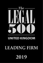 The Legal 500 - UK Leading Firm 2019