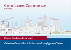 Guide to Ground Rent Professional Negligence Claims Download