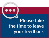 Please take the time to leave your feedback