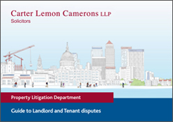 Guide to Landlord and Tenant disputes
