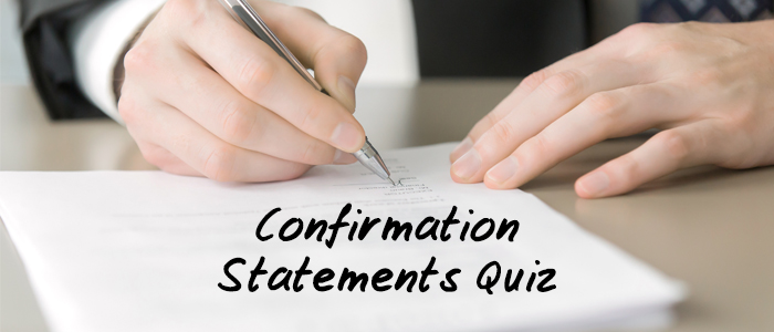 Confirmation Statements Quiz